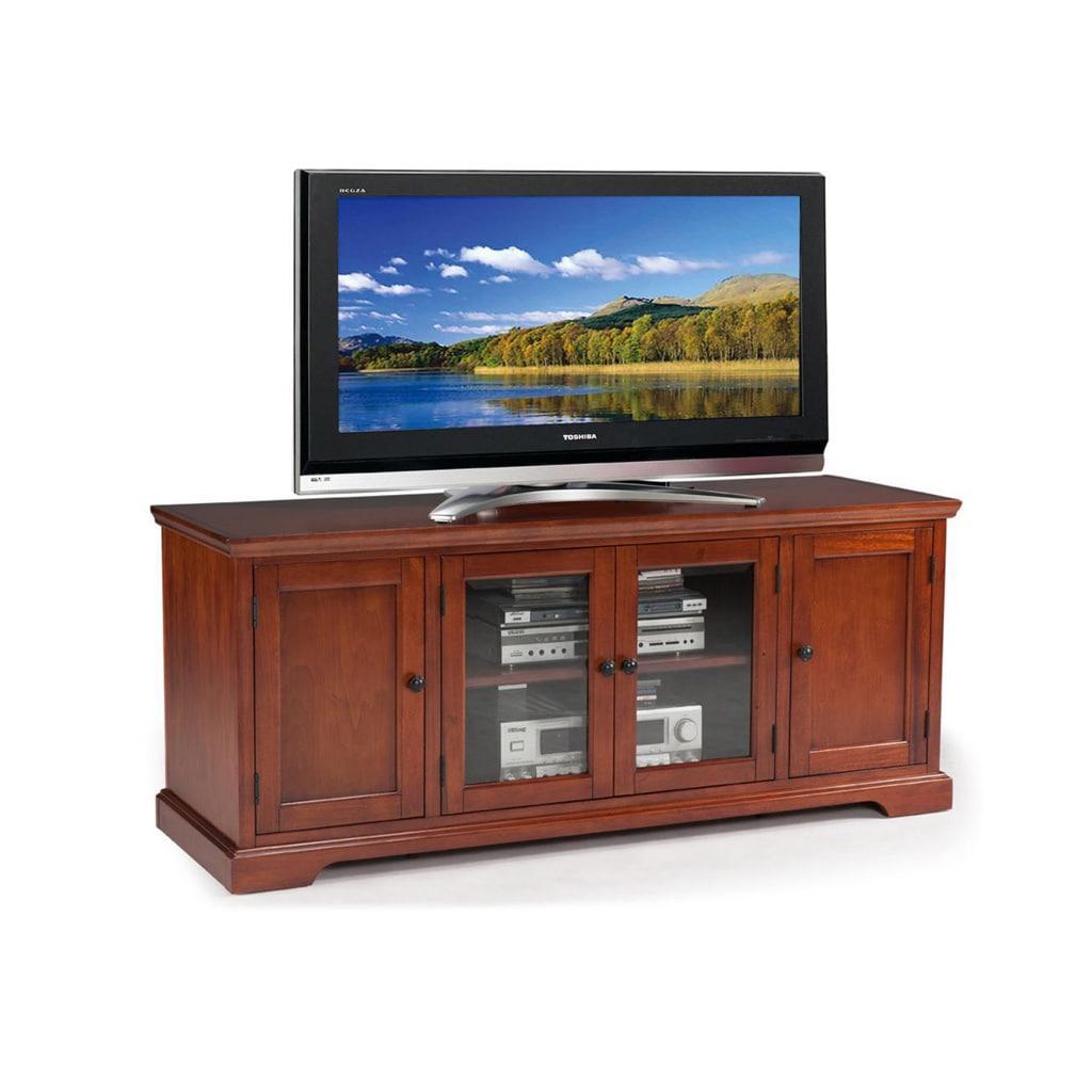 KD Furnishings Westwood 60-inch Cherry Hardwood TV Stand