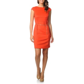 Studio 1 Women's Cap Sleeve Techno Stretch Dress
