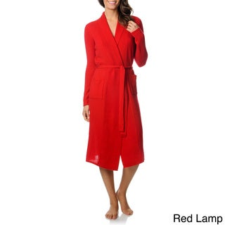 Ply Cashmere Women's Gift Boxed Solid Cashmere Robe