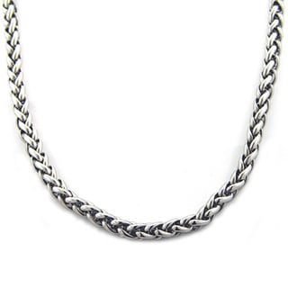 Stainless Steel Men's Heavy Wheat Chain Necklace