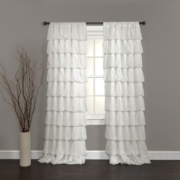 Lush Decor Olivia Off White 84-inch Curtain Panel