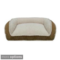Franklin Textured Soft Microfiber Rectangle Bolster Pet Bed