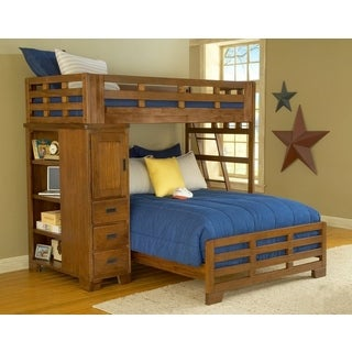 Greyson Living Hardy Twin Over Full Loft Bed and Storage