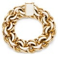 14k Yellow Gold 1960's Giant Estate Charm Bracelet
