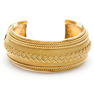 22K Yellow Gold Antique Bangle Bracelet