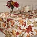 Glen Wood Fall Leaves Micro Fiber Tablecloth