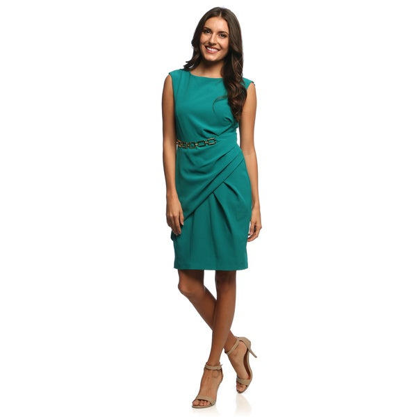 Studio One Women's Sleeveless Mystery Crepe Dress