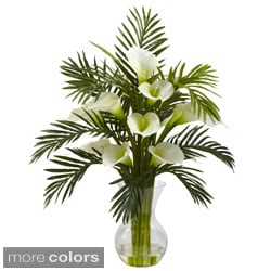 Nearly Natural Calla Lily and Palm Combo Decorative Plant