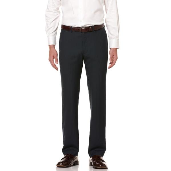 Perry Ellis Men's Regular Fit Textured Stripe Dress Pants