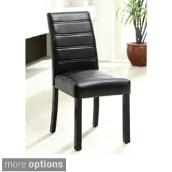 Furniture of America Magnolia Blithe Leatherette Dining Side Chairs (Set of 2)