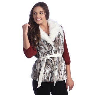 Women's Animal Print Belted Vest