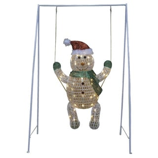 31 x 50-inch Snowman Baby Metal Mesh Outdoor Decoration