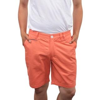 Filthy Etiquette Men's Slim Fit Salmon Shorts