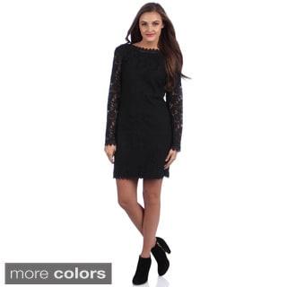 Women's 'Lynda' Long Sleeve Lace Dress