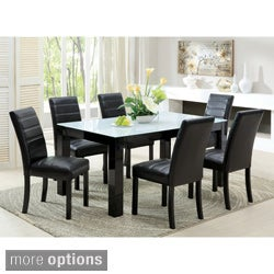 Magnolia Blithe Contemporary 7-piece Tempered Glass Dining Set
