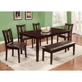 Furniture of America Urban Lee 6-piece Espresso Dining Set with Bench
