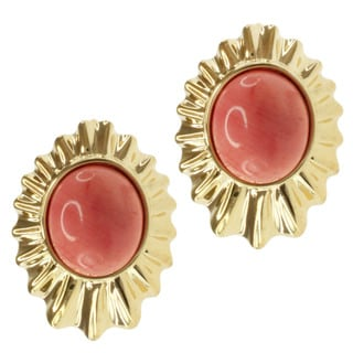 Michael Valitutti/ Jason Gold over Silver Salmon Coral Earrings