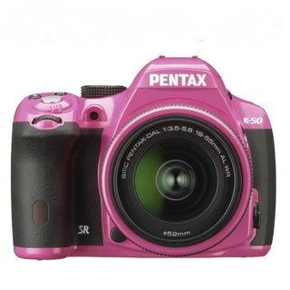 Pentax K-50 16.3MP Digital SLR Pink Camera with DA L 18-55mm WR Lens
