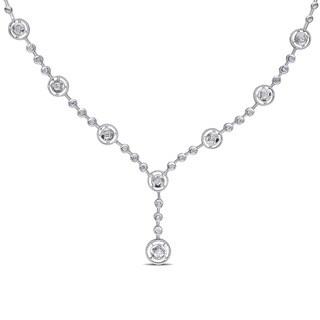 Miadora 14k White Gold 3/4ct TDW Diamond Necklace (G-H, SI1-SI2)