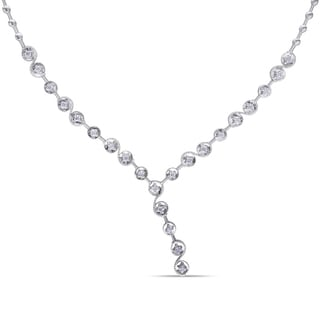 Miadora 14k White Gold 3/4ct TDW Diamond Necklace (G-H, SI1-SI2)