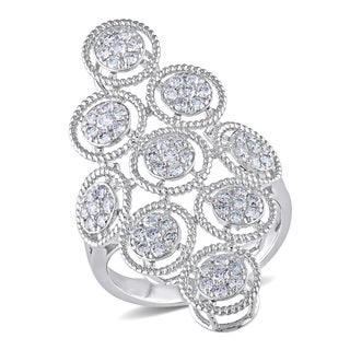 Miadora 14k White Gold 3/4ct TDW Diamond Ring (G-H, SI1-SI2)
