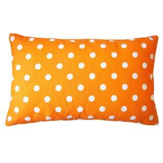 Jiti 12 x 20-Inch Dot Orange Down Lumbar Pillow