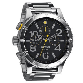 Nixon Men's '48-20' Black Dial Chronograph Watch