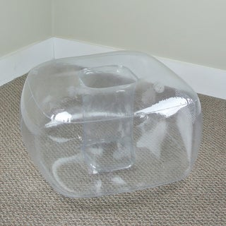 Crystal Clear Inflatable Bubble Ottoman