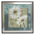 'Soft Canvas Floral Art II' Framed Canvas Art