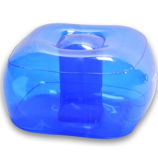 Ocean Blue Inflatable Bubble Ottoman