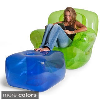 Smoke Black Inflatable Bubble Ottoman