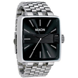 Nixon Men's 'Sultan' Black Dial Steel Watch