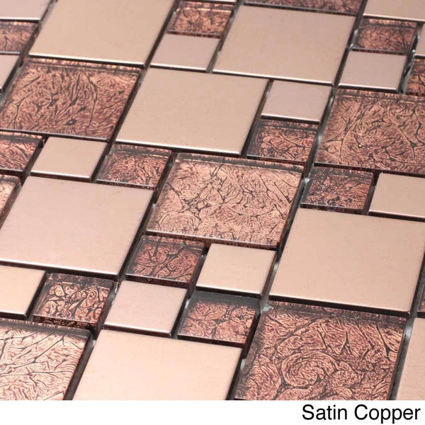 Venetian Glass Aluminum Tile Free Shipping Today Overstock Com