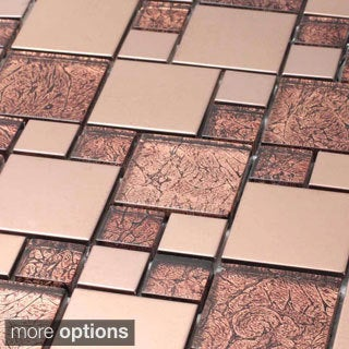 Venetian Glass/ Aluminum Tile
