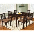 Marvi 7-piece Espresso Urban Dining Set