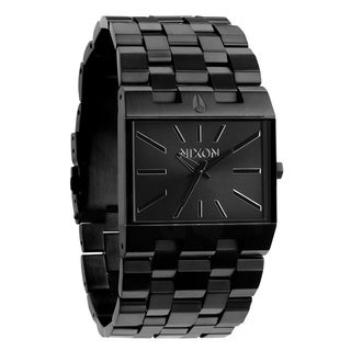 Nixon Men's 'Ticket' A085 Thin Case Black Steel Watch