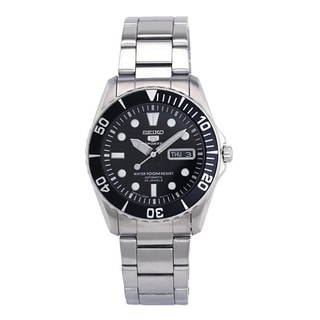 Seiko Men's '5 Sports' Black Dial Automatic Watch