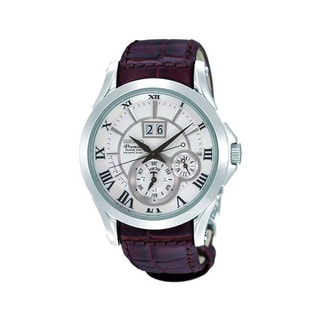 Seiko Men's 'Premier SNP023P1' Automatic Leather Strap Watch