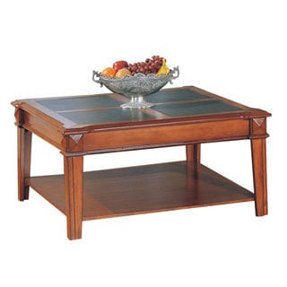 Cambridge Cherry Faux Leather Cocktail Table