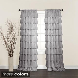 Lush Decor Olivia Grey 84-inch Curtain Panel