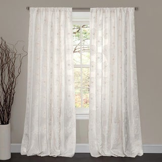 Lush Decor Samantha White 84-inch Curtain Panel
