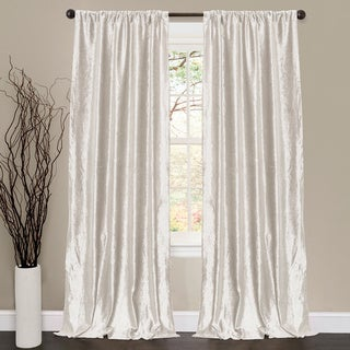 Lush Decor Velvet Dream White 84-inch Curtain Panel Pair