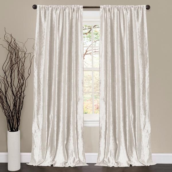 Lush Decor Velvet Dream White 84 Inch Curtain Panel Pair