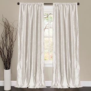 Lush Decor Velvet Dream White 84-inch Curtain Panel Pair