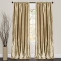 Lush Decor Velvet Dream Gold 84-inch Curtain Panel Pair