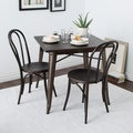 Cafe Dark Vintage Metal Side Chairs (Set of 2)