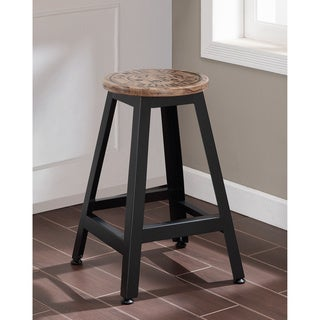Parcel Wood and Metal Counter-height Stool