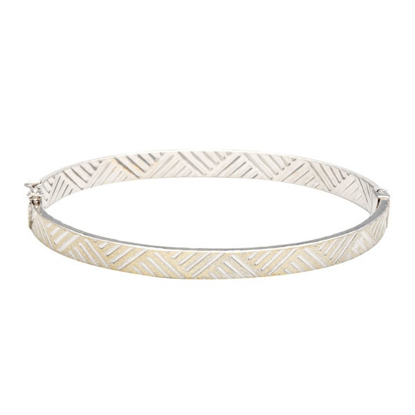 Sterling Silver Fancy Bangle Bracelet