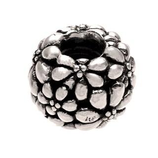 Sterling Silver Flower Bead