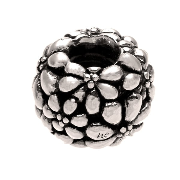 Sterling Silver Flower Bead